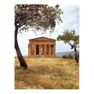 Italien, Sizilien, Agrigent. Die Ruinen der 2 Postkarte