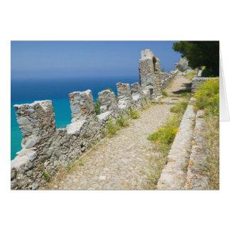 Italien, Sizilien, Cefalu, Cliffside Gehweg, La Karte