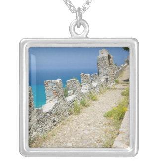 Italien, Sizilien, Cefalu, Cliffside Gehweg, La Versilberte Kette