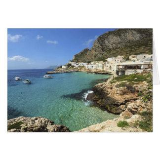 Italien, Sizilien, Egadi Inseln, Levanzo, Karte