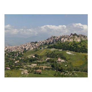 Italien, Sizilien, Enna, Calascibetta, Postkarte