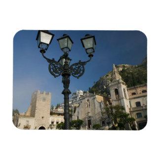 ITALIEN, Sizilien, TAORMINA: Marktplatz Ix Aprile, Vinyl Magnete