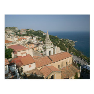 ITALIEN, Sizilien, TAORMINA: Sehen Sie in Richtung Postkarte
