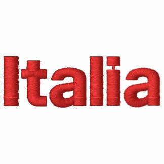 Italien stickte italienische Flagge von Besticktes Kapuzenpulli