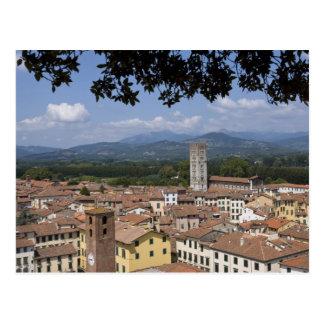 Italien, Toskana, Lucca, Ansicht der Stadt und 4 Postkarte
