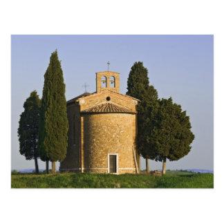 Italien, Toskana. Nahaufnahme der Kapelle von Postkarte