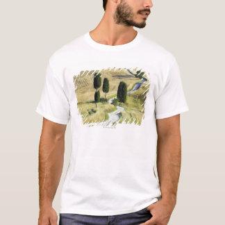 Italien, Toskana, Pienza, Val d'Orcia, Zypresse T-Shirt