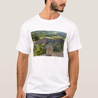 Italien, Toskana. Roofop Ansicht des Landhauses T-Shirt