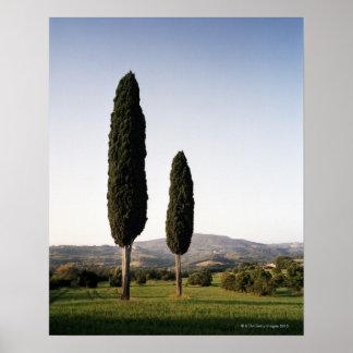 Italien Toskana Val d Orcia Plakatdruck