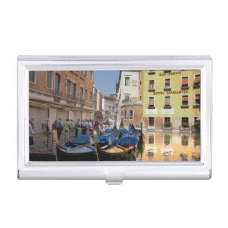 Italien, Venedig, Gondeln machte entlang Kanal Visitenkarten Etui