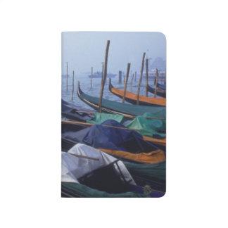 Italien, Venedig. Gondeln Taschennotizbuch