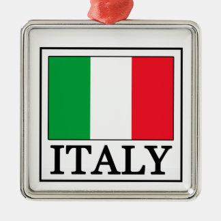 Italien-Verzierung Quadratisches Silberfarbenes Ornament