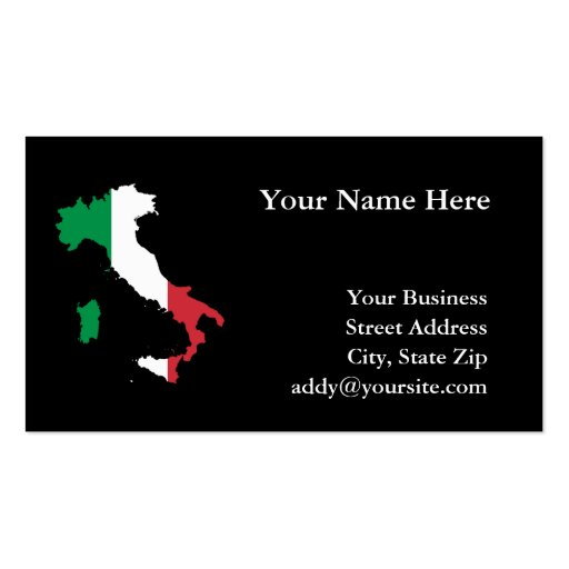 Italien Visitenkartenvorlagen