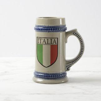 Italien-Wappen-Bier Stein/Italien-Flaggen-Tasse Bierkrug
