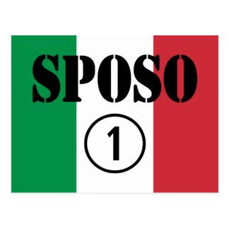 Italiener-Bräutigame: Sposo Numero UNO Postkarte