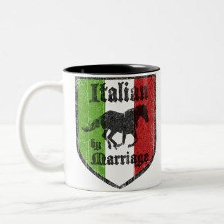 Italiener durch Heirat-Kaffee-Tasse Zweifarbige Tasse
