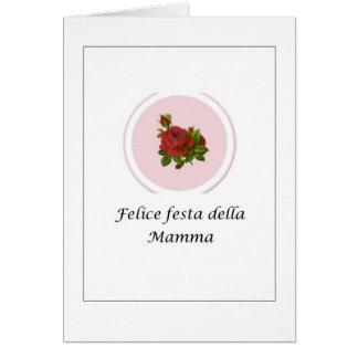 Italiener-Felice festa della Mamma - Italiener Karte