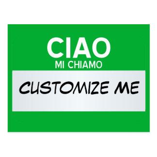 Italiener hallo mein Name ist… kundengerecht Postkarte