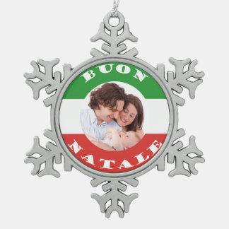 Italienisch-Amerikanische Schneeflocken Zinn-Ornament