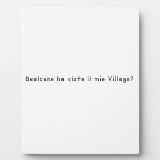 Italienisch-Dorf Fotoplatte