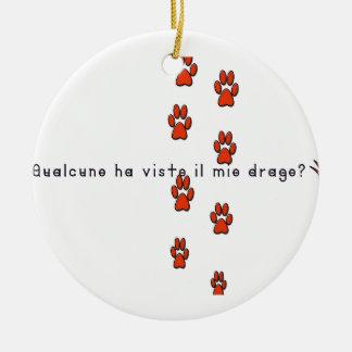 Italienisch-Drache Rundes Keramik Ornament