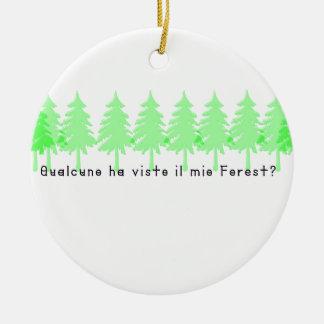 Italienisch-Forrest Rundes Keramik Ornament