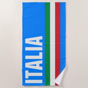 Italienisch, grüne, weiße italienische Flagge, S Strandtuch