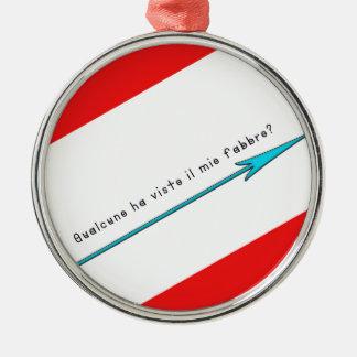 Italienisch-Schmied Rundes Silberfarbenes Ornament