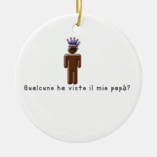Italienisch-Vati Rundes Keramik Ornament