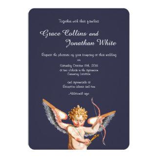 Italienische Amor-Kunst-Hochzeits-Einladung 12,7 X 17,8 Cm Einladungskarte