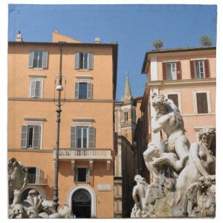 Italienische Architektur im Marktplatz Navona, Stoffserviette