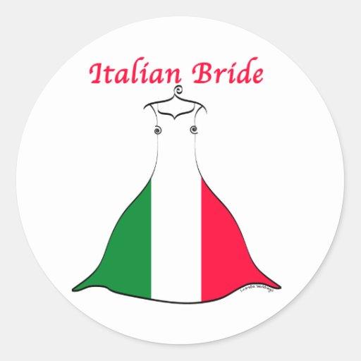 Italienische Braut Aufkleber
