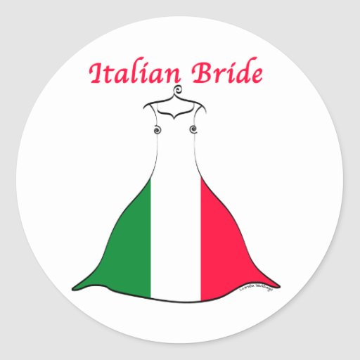 Italienische Braut Runde Aufkleber