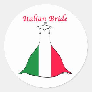 Italienische Braut Runder Aufkleber