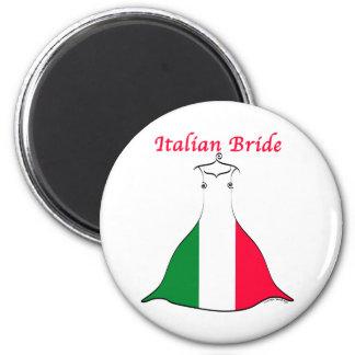Italienische Braut Runder Magnet 5,7 Cm