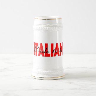 Italienische Braut zum zu sein Bierkrug