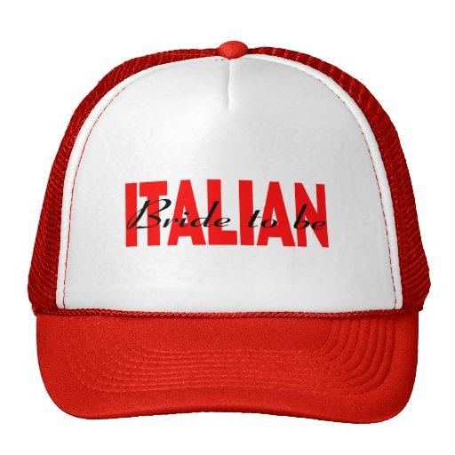 Italienische Braut zum zu sein Baseball Mützen