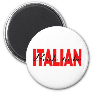 Italienische Braut zum zu sein Runder Magnet 5,1 Cm