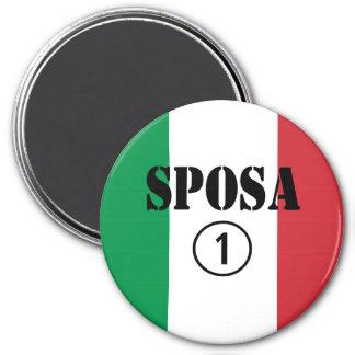 Italienische Bräute: Sposa Numero UNO Kühlschrankmagnet