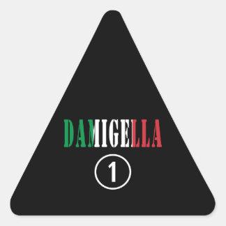 Italienische Brautjungfern: Damigella Numero UNO Dreiecks-Aufkleber