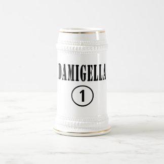Italienische Brautjungfern: Damigella Numero UNO Bierkrug