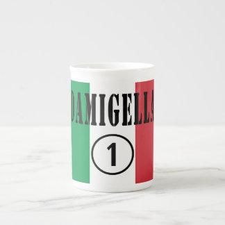 Italienische Brautjungfern: Damigella Numero UNO Porzellan-Tassen
