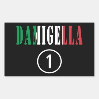 Italienische Brautjungfern: Damigella Numero UNO Rechteckiger Aufkleber