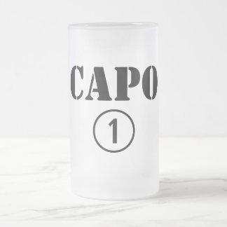 Italienische Chefs: Capo Numero UNO Matte Glastasse