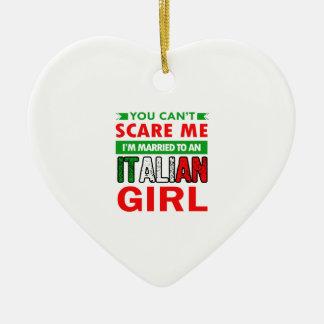 Italienische Ehefrau-Ehefrau Keramik Herz-Ornament