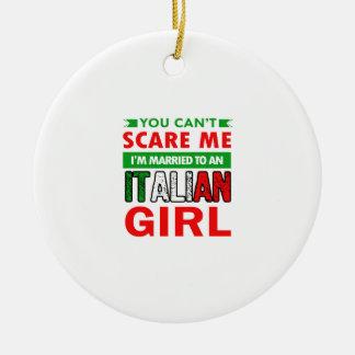 Italienische Ehefrau-Ehefrau Rundes Keramik Ornament