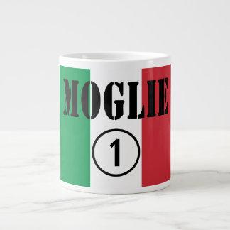 Italienische Ehefrauen: Moglie Numero UNO Jumbo-Tasse
