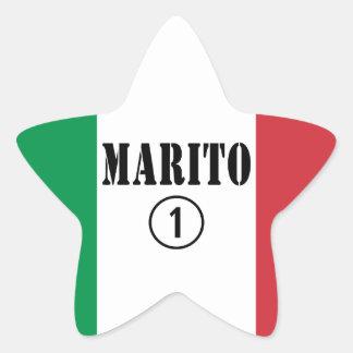 Italienische Ehemänner: Marito Numero UNO Stern Aufkleber
