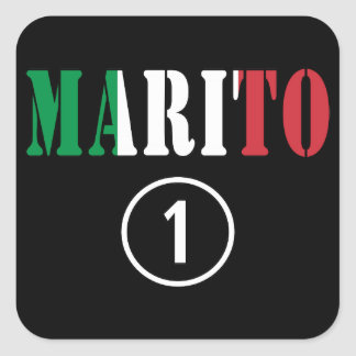 Italienische Ehemänner: Marito Numero UNO Quadratischer Aufkleber