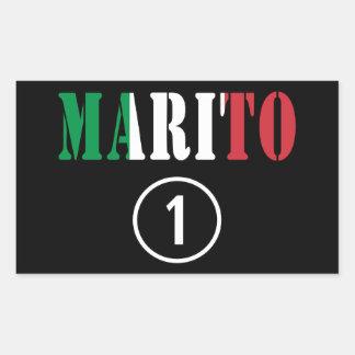 Italienische Ehemänner: Marito Numero UNO Rechteckige Aufkleber